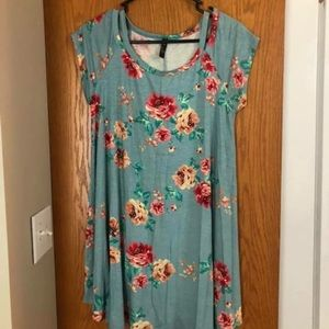 floral dress, size small